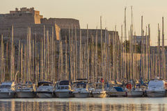 Yachts in Marseille Harbor - French Riviera Stock Photo