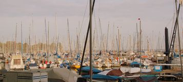 Yachts masts Stock Photos