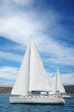 Yachts in the medeterian sea Royalty Free Stock Photo