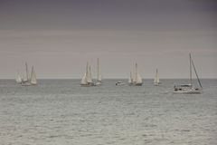 Yachts in the Mediterranean Royalty Free Stock Photo