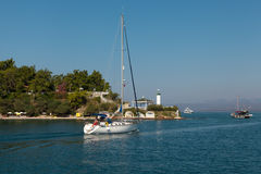 Yachts in the Mediterranean Sea Stock Photography