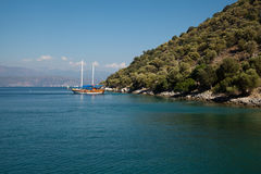 Yachts in the Mediterranean Sea Stock Image