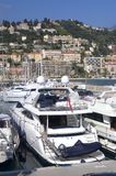 Yachts in Menton Harbour Stock Photos