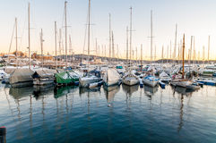 Yachts in modern Aker Brygge area in Oslo, Norway Stock Photography