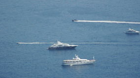 Yachts in Monaco bay stock video footage