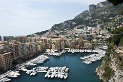 Yachts Monaco Coastline Royalty Free Stock Images