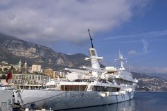 Yachts in Monaco Harbour Stock Photo