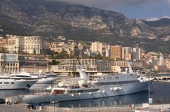 Yachts in Monaco Harbour Royalty Free Stock Photography
