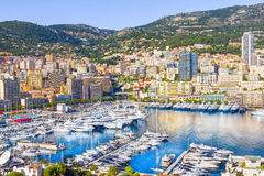 Yachts in Monaco. Yachts in the port of Monaco stock photography