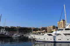 Yachts in Monaco Royalty Free Stock Images