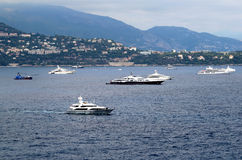 Yachts in Monte-Carlo, Monaco Royalty Free Stock Image