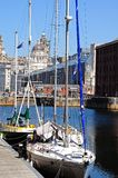 Yachts Moored in Albert Dock, Liverpool. Royalty Free Stock Image