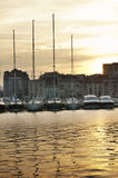 Yachts moored in Cannes Royalty Free Stock Image
