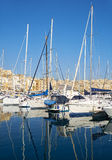 The yachts moored on the Dahla tad-Dockyard bay, Malta Stock Images