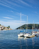Yachts Moored at Dartmouth, England Stock Photos