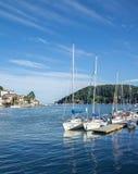 Yachts Moored at Dartmouth, England Stock Photos