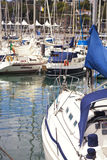 Yachts moored in Funchal seaport Royalty Free Stock Photography