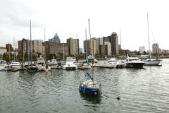Yachts Moored in Harbour, Durban South Africa Stock Photography