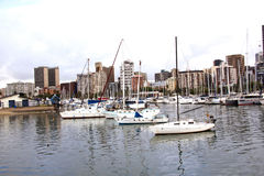 Yachts Moored in Harbour, Durban South Africa Stock Photo