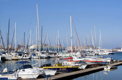 Yachts moored At jetty in Durban Harbor Stock Photos
