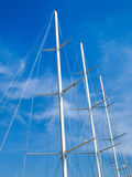 Yachts moored in the Ligurian port Royalty Free Stock Images