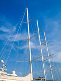Yachts moored in the Ligurian port Stock Photos