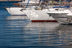 Yachts moored  in a marina. Stock Image
