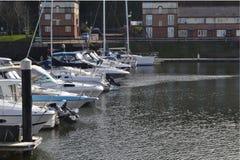 Yachts moored in marina Royalty Free Stock Photography