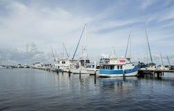Yachts moored at marina near Fort Myers. Florida. Royalty Free Stock Photo