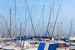 Yachts moored in a marina Royalty Free Stock Photos