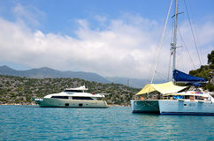Yachts moored in Marmaris Stock Image