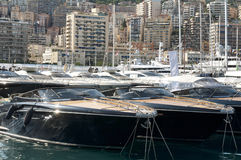 Yachts moored in Monaco Stock Photo