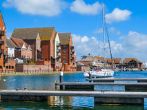 Yachts moored in the Sovereign Harbour Marina Royalty Free Stock Photos