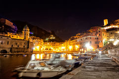 Yachts at the mooring on the embankment. Vernazza Royalty Free Stock Image