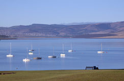 Yachts at Mooring on the Midmar Dam, Howick, South Africa Stock Photography