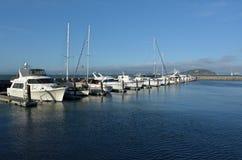 Yachts mooring at Pier 39 Marina in Fishermans Wharf San Francis Stock Image