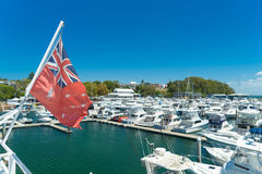 Yachts and motor boats at Port Stephens Stock Image