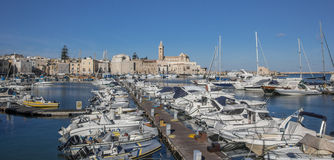 Yachts and motorboats in the port of Trani Stock Photography