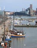Yachts n Helsinki. Yachts in harbour of Helsinki Stock Photo