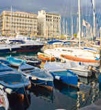 Yachts in Naples Royalty Free Stock Photos