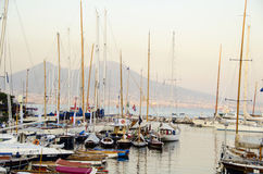 Yachts in naples Royalty Free Stock Image