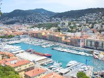 Yachts in Nice France Stock Photo