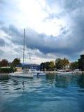 Yachts o panorama Imagens de Stock