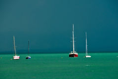 Yachts on ocean Royalty Free Stock Photo