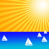 Yachts on the ocean stock photo