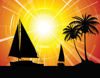 Yachts on the ocean Royalty Free Stock Image