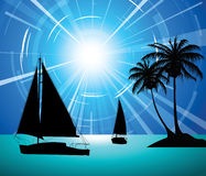 Yachts on the ocean Royalty Free Stock Images