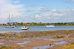 Yachts off Ravenglass Stock Images