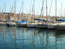 Yachts in the old harbor - Marseille Stock Image