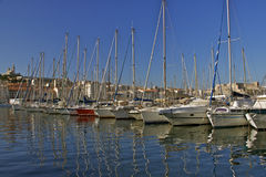 Yachts in the old port of Marseille Royalty Free Stock Photography